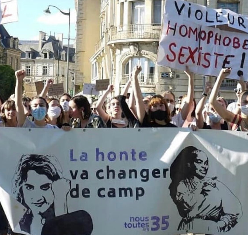French protest against Darmanin